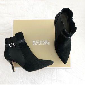 Michael Kors Black Suede Booties 5.5